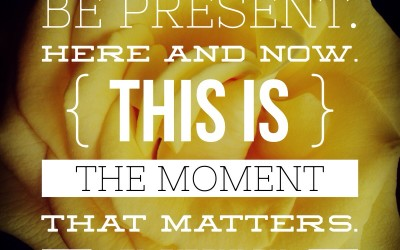 BFP Moment: Be Present Here And Now