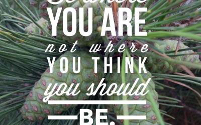 BFP Moment: Be Where You Are