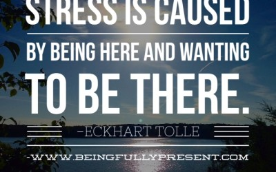 BFP Moment: Stress Less…Be Where You Are