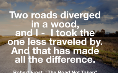 On Taking The Less Traveled Road
