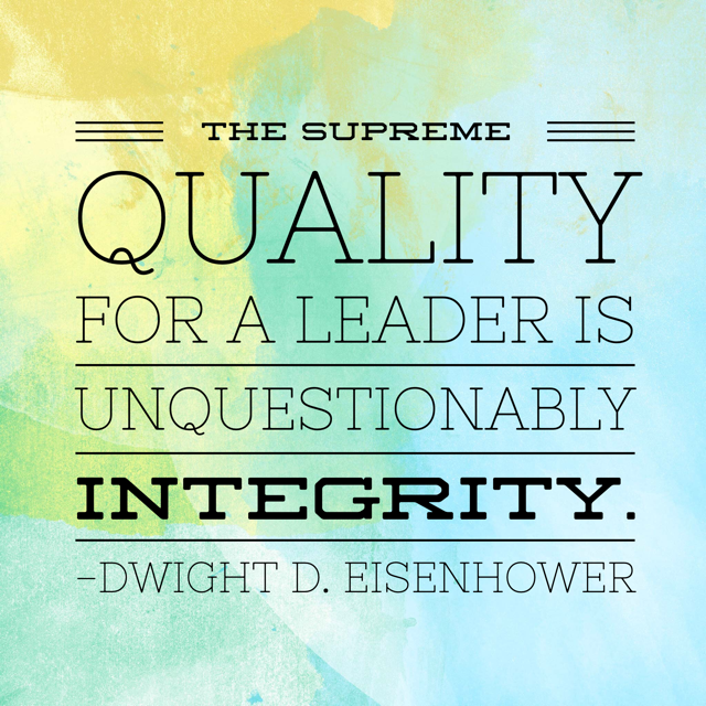 Tuesday Tidbit on Integrity in Our Leaders