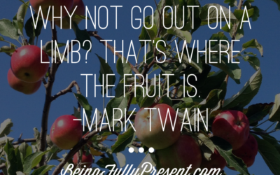 BFP Inspiration Moment on Going Out on a Limb